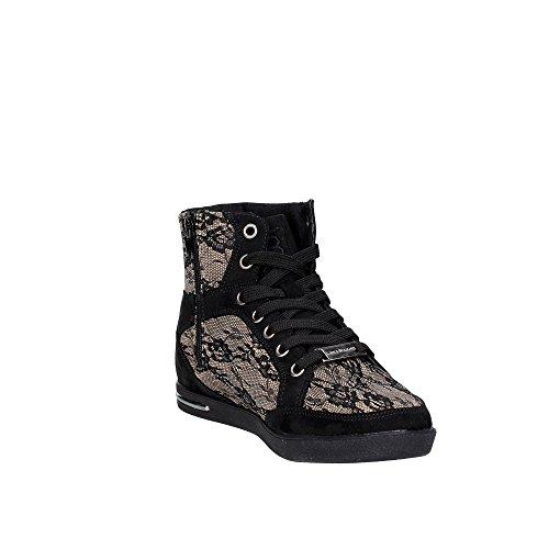 Laura Biagiotti 1557 Sneakers Femme Noir/Marron Taupe