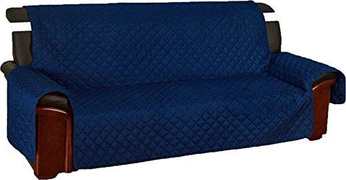 Tata home copridivano trapuntato con elastici antiscivolo in microfibra resistente 2 posti blu