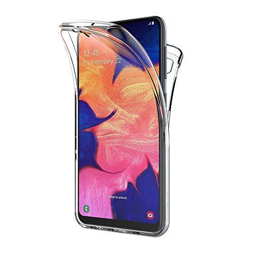 AICEK Compatible Samsung Galaxy M10 / Samsung Galaxy A10 Hülle, 360°Full Body Transparent Silikon Schutzhülle für Samsung Galaxy A10 Case Durchsichtige TPU Bumper Handyhülle (6,2 Zoll)