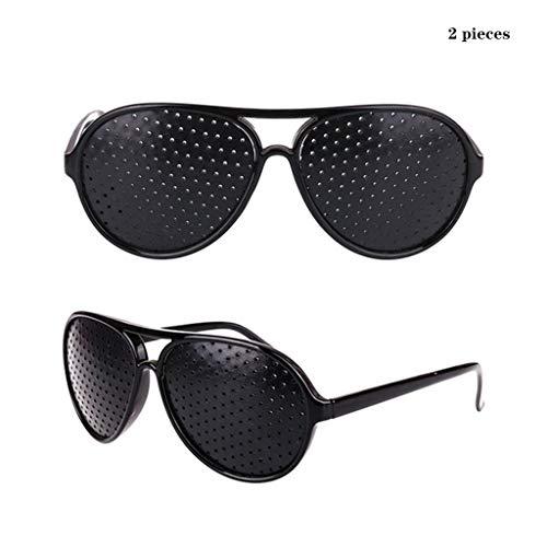 YTVYUN- Erwachsenen-Sonnenbrillen Sehkorrekturbrille Sehkraftverhütung bei kurzsichtigem Astigmatismus Amblyopie Mikroloch-Anti-Müdigkeit