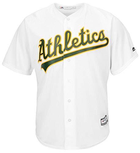 0f0fd4a9b Majestic Athletic Oakland Athletics Cool Base MLB Replica Jersey Green  Baseball Trikot Tee T-Shirt