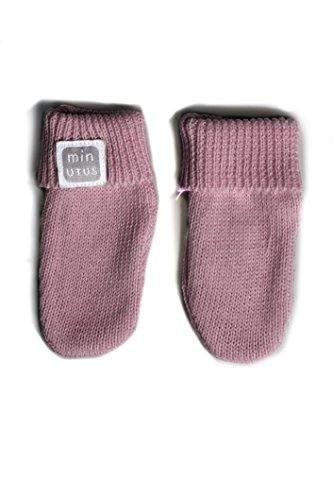 Fausthandschuhe / Babyhandschuhe / Erstlingshandschuhe / Strickhandschuhe aus 100 % Baumwolle für Babys, Aubergine- Tricot MINUTUS (Baby Schuhe Schokolade)