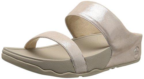 FitFlop Lulu Shimmersuede Slide Damen Sandalen Nude