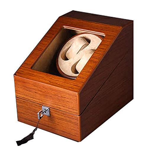 LMEI-WatchBox Uhrenbeweger/HöLzerner Uhrenbeweger, Uhrenbox, 2 + 3 Wicklerposition, 5 Rotationsmodi/FüR Jede Automatikuhr