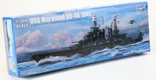 Trumpeter BB-46 USS Maryland Battle Boat Model Kit, 1941, Scale 1/800