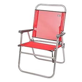 Aktive 53968 -Sedia Pieghevole Fissa Alluminio Beach 51x56x90 cm – Rosso