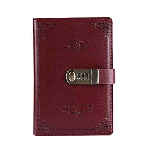 Toim PU blocco diario, A5 vintage writing Journal 150 * 215 mm Wine