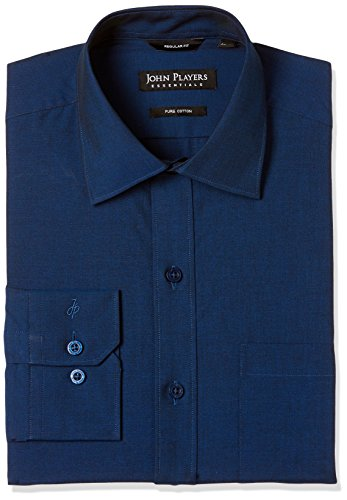 John Players Men's Formal Shirt (8907482052942_JFMWSHCOR1002004_42_Teal Blue)