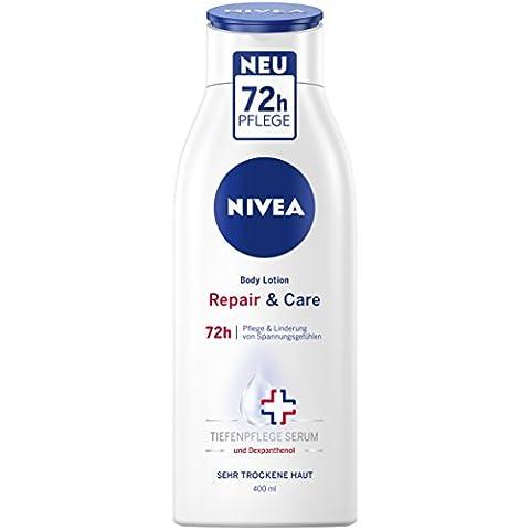 Nivea Repair & Care Body Lotion, für sehr trockene Haut, 3er Pack (3 x 400 ml)