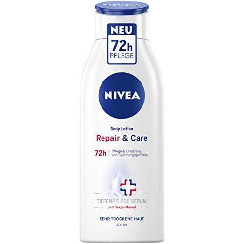 Nivea Repair und Care Körper Lotion für sehr trockene Haut, 3er Pack (3 x 400 ml)
