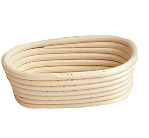 fertiger sauerteig JEELINBORE Klein Gärkörbchen, Banneton Proof Korb für Brot und Teig Gärkorb aus Peddigrohr (Oval Korb, 21 * 15 * 8cm)