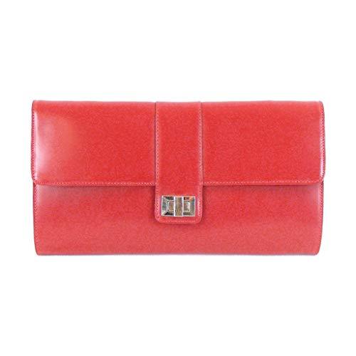 Pavini Abendtasche Roma rot Damen Tasche Echt-Leder Clutch Ausgehtasche 14799