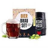 Braufässchen Bier Brauset zum selber machen | Dunkles Bier im 5 Liter Fass | Perfektes Geschenk für Männer | Geschenkbox