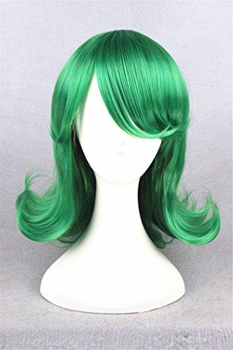 40cm Synthétique Perruques Court Cheveux Ondulés Fluffy Vert Foncé Parti Cosplay Femme