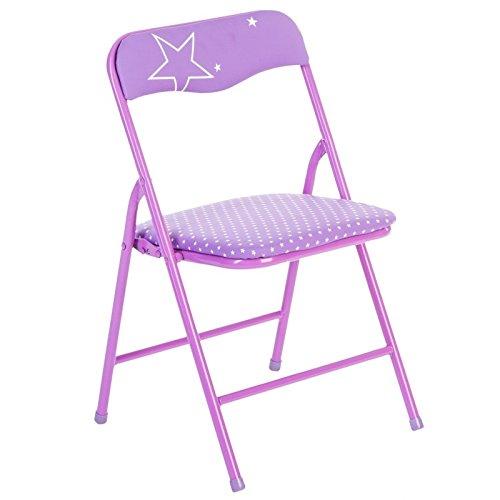 Chaise pliante - Métal - Violet