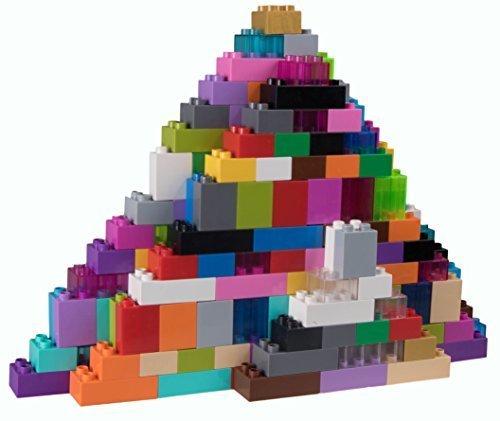 Strictly Briks Basic Builder Set #3 - Premium-Bausteine - kompatibel mit großen Bausteinen Aller führenden Marken - nur für Steine mit großen Noppen geeignet - 204 Stück - Blau, Grün, Rot, Gelb