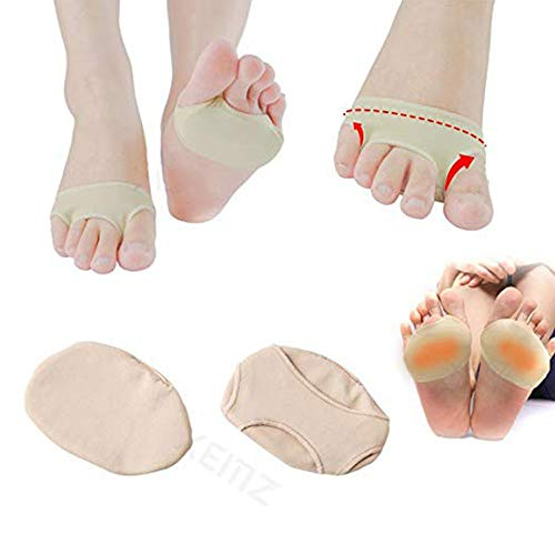 2 Pieces of Pedimend Gel Forefoot Cushion Metatarsal Morton Neuralgia Pad Shoe Insole -Forefoot Cushion Metatarsal - Forefoot Cushion Covering, Metatarsal - Elasticated Foot Sleeve - Foot Care -