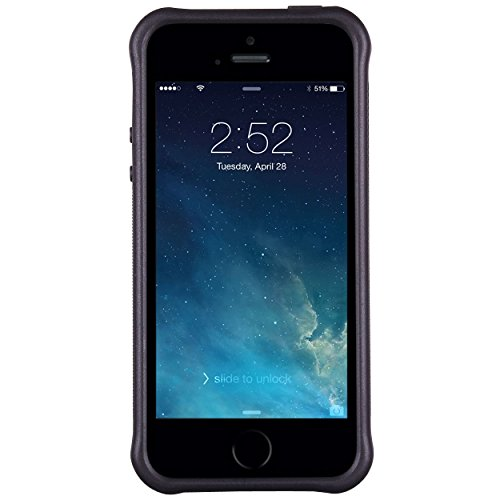 iPhone 55S case, True Color® rilievo stampato resistente agli urti TPU protettiva antiscivolo grip snap-on morbido robusto cover per iPhone 55S [True Impact Series] + pennino e pellicola protettiva  Coral Anchor on Chevron & Zebra