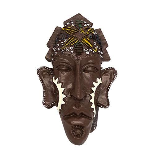 zamonji 3D Résine Aimant de Réfrigérateur Tourist Souvenir de Voyage - Masque, Culture indigène en Afrique