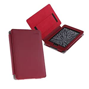 TeckNet@ Amazon Kindle Paperwhite Leather Cover/Case Kindle Screen Protectors & Built-in Magnet for Sleep/Wake Feature - Wine Red