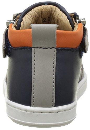 Shoo Pom Bouba Bi Zip, Bottes Bébé Garçon Bleu (Navy-Grey-Orange)