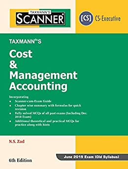 Epub Descargar Scanner-Cost & Management Accounting (CS-Executive)(For June 2019 Exam -Old Syllabus)(6th Edition January 2019)
