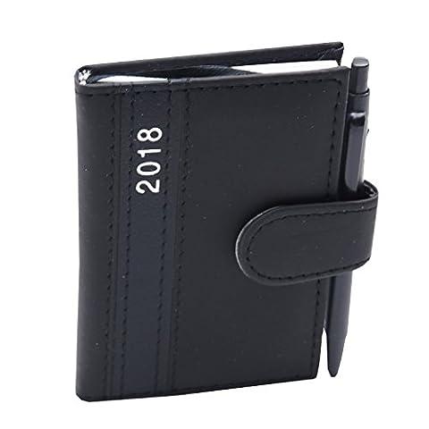 2018 Taschenkalender mit Stift Schwarz A7 Business Terminplaner Organizer Timer Kalender