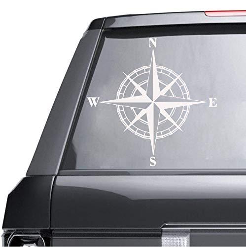 qhtqtt Wandtattoos Kunst Kompass Aufkleber Für Automobil Dekoration Für Schlafzimmer Dekoration Zubehör Aufkleber Weltkarte Kompass 43X42 (Tinkerbell Auto Zubehör)