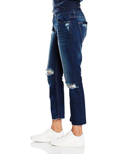 New Look Damen Jeans Petite Stella Turn Up Blue (Blue Patterned)