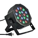 Docooler Lichtorgel 18W PAR LED DMX AC 90–240V 18LED RGB Kanal 1/2/3/4/5/6/7DMX 512Sound aktiviert automatische Ausführung für Disco DJ