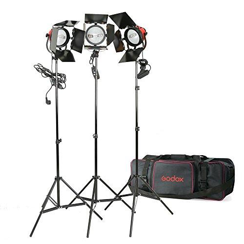 3x 800W 220V Foto Studio Red Head Dauerlicht Kit + Light Ständer + Tragetasche + Ersatzlampe - Ersatzlampe Kits