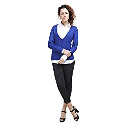 MansiCollections Blue Cardigan for Women
