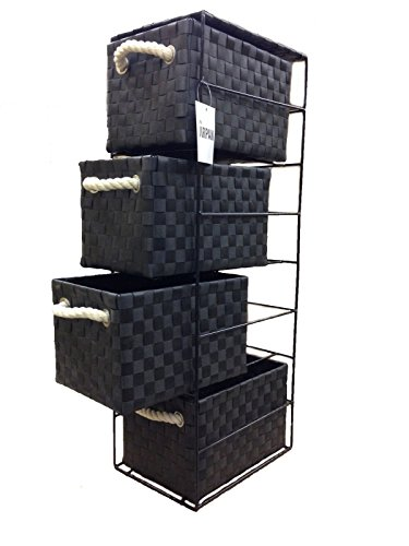 arpan-black-4-drawer-storage-unit-ideal-for-home-office-bedrooms-4-drawer-18x25x65cm