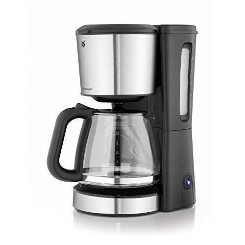 Kaffeemaschine Design (WMF BUENO Kaffeemaschine Glas, 10 Tassen, 1000 W, Aromaglaskanne, Warmhalteplatte, Tropfstopp, cromargan/silber)