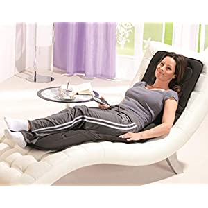 maxVitalis Massagematte mit kombinierter Wärmefunktion || Im Liegen und Sitzen nutzbar || Massageintensität variabel durch Fernbedienung || Massageauflage inkl. Tragetasche
