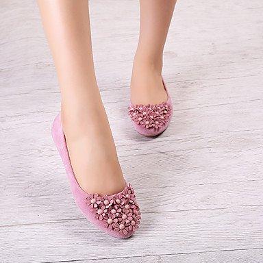 Confortevole ed elegante piatto scarpe donna Appartamenti Comfort / Round Toe / punta chiusa Casual tacco piatto imitazione PearlBlack / blu / giallo / Pink