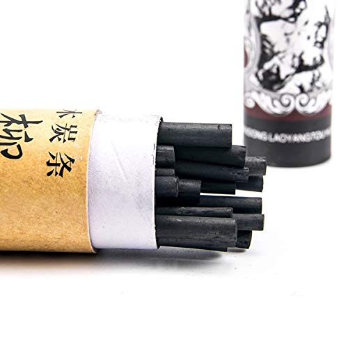 PPX Natürliche Zeichenkohle, Weidenkohle - Länge 13.5 cm - 25 Stück (3-5mm)