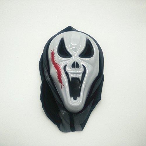 Tutoy Halloween Scary Maske Party Stützen Gesichtsmaske Hip-Hop Ghost Tanz Schädel Maske - Für Eine Scary Halloween Party Essen