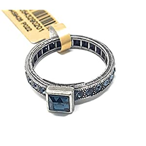 KONPLOTT Classic Shine Damen-Ring innen 16mm, Glas blau -5450543290201