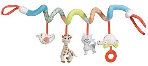 VULLI 230765 Kinderwagenkette/Bettchenspielzeug Spirale Sophie la girafe, mehrfarbig