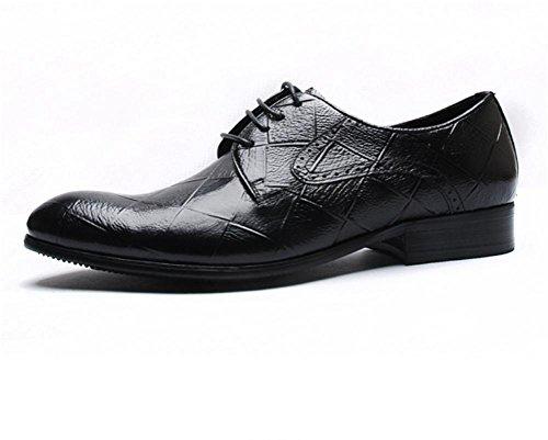 Hommes mode classique lacets doublées cuir Angleterre fait des chaussures en cuir de vachette