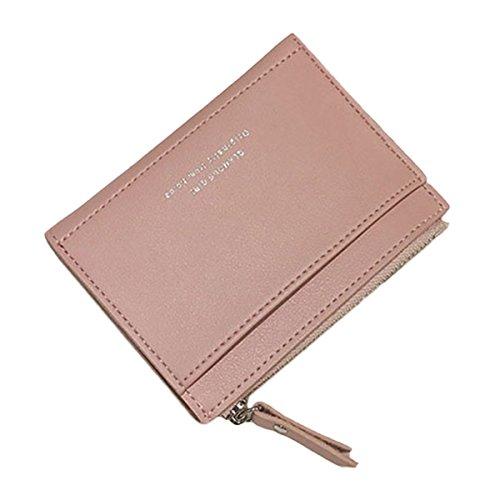 COAFIT Reißverschluss Kartenhalter Mini Simple Credit Card Wallet für Frauen -
