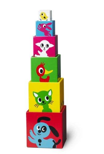 Imagen principal de Micki 10.2124.00 - Cubos apilables con diseño de animales (6 unidades)