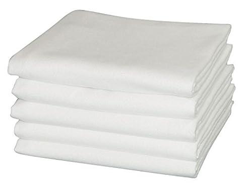 Moltontuch 80x80 cm 100% Baumwolle 5er Pack hergestellt nach Ökotex
