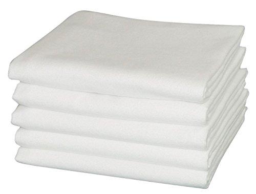 Moltontuch 80x80 cm 100% Baumwolle 5er Pack hergestellt nach Ökotex 100