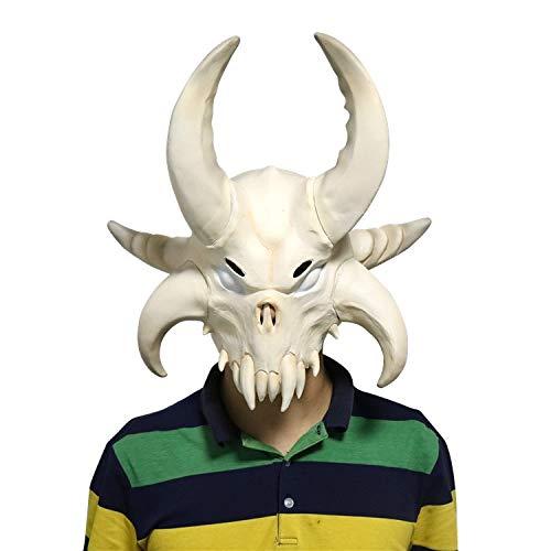 Kostüm Der Auf Flucht - Fort Viking Flucht Bull Teufel Maske Beängstigend Erwachsene Kostüm Horn Maske Horror Cosplay Halloween Latex Beängstigend Hörner Cosplay
