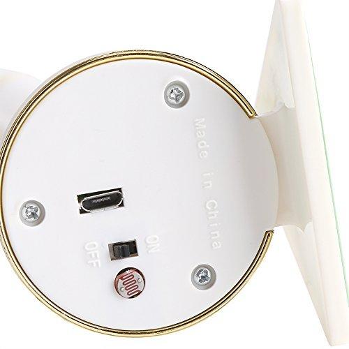 2 Piezas LED Velas de Plástico Sin Llama Electrónica Lámpara Luz de Pared Multifuncional Luz de Noche Velas de Navidad con Batería Inalámbrico con USB Para Dormitorio Espejo Salón Pared Blanco