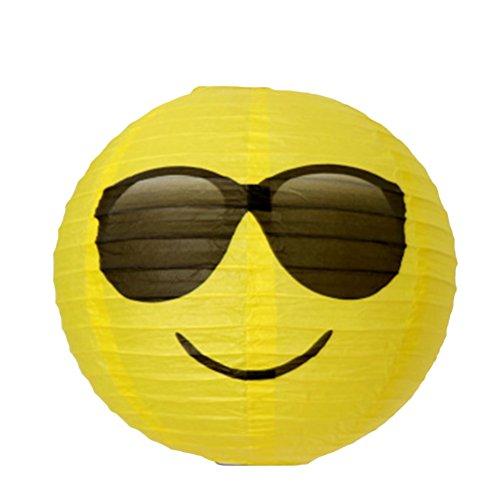 YeahiBaby Deko Papier Lampions Papierlaterne Runde für Geburtstag Hochzeit Baby Shower Party (Sonnenbrille)