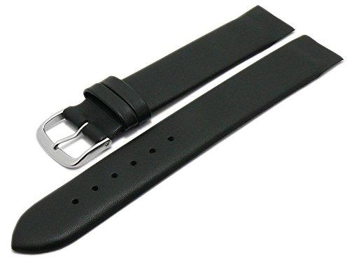 Meyhofer Uhrenarmband Kronach 20mm schwarz Leder Spezialanstoß für verschr. Gehäuse Myfcklb394/20mm/schwarz
