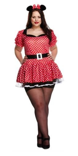 Henbrandt sexy minnie, donna, costume per adulti red & white spots large